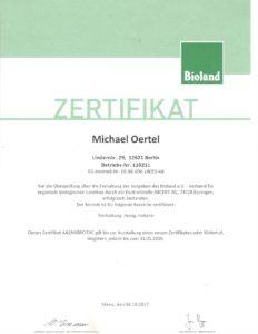 Bioland-Zertifikat 2017